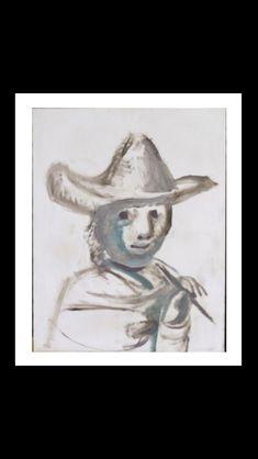 Pablo Picasso - Le jeune peintre, 14 IV 1972 - Huile sur toile  - 91 x 72,5 cm (..)