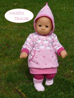 Hase Puppenbekleidung für Baby Annabell 36cm groß 4-teilig