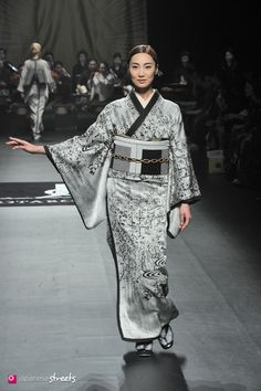 Autumn/Winter 2014 Collection of Japanese fashion brand JOTARO SAITO on March 19, 2014, in Tokyo.