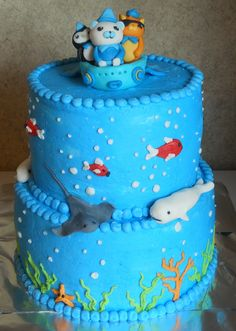 Octonauts Cake  @Cristie Carter  This is the cake Kelsey wants you to make for her birthday! - Carrie