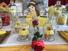 DECORAÇÃO FESTA A BELA E A FERA...BEAUTY AND THE BEAST BIRTHDAY PARTY IDEAS