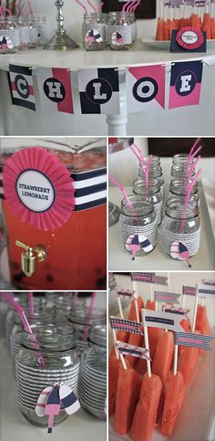 pictures of nautical party decor | Little girls nautical birthday party decorations