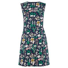 Buy Oasis Edie Shift Dress, Navy Online at johnlewis.com