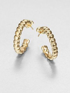 c3e8fb50969 John Hardy - Bedeg 18K Yellow Gold Small Hoop Earrings 1