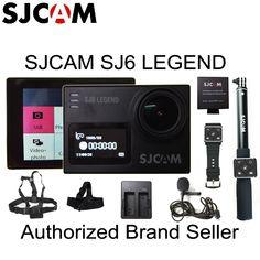 In Stock! SJCAM SJ6 Legend 2' Touch Screen Remote Action Helmet Sports DV Camera Waterproof 4K 24FPS NTK96660 RAW w/Front Screen //Price: $188.00      #gadget
