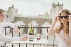 Romantic Paris Elopement: Amanda + Chase  Claire La Faye dress