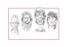The Rolling Stones by Paskal caricature