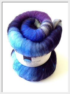 AZULITA Handdyed Handcarded Batt for Spinning/Felting by YARNSHINE, $17.00