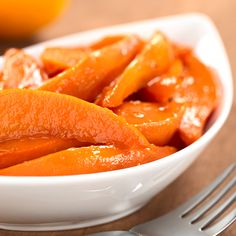 This recipe for caramelized sweet potato wedges would taste fantastic with broccoli spears and roasted chicken.