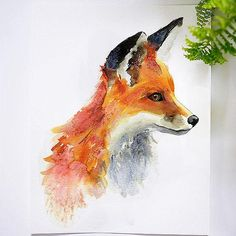 Foxy Fox Watercolor Paint Kit - Let's Make Art Watercolor Kit, Watercolor Projects, Watercolour Tutorials, Watercolor Animals, Watercolor Paintings, Tattoo Watercolor, Watercolours, Art Fox, Let's Make Art