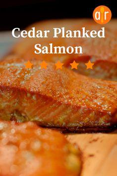 It is by far the best salmon I've ever eaten. Cedar Plank Salmon, Cedar Grilling Planks, Cedar Planks, Salmon Recipes, Fish Recipes, Seafood Recipes, Healthy Recipes, Healthy Food, Seafood Dishes