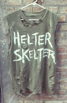 Helter Skelter distressed cut off tee