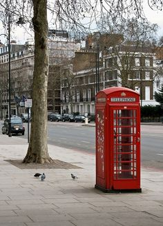 Camden, London... ah, ye olde phone booth!  I wonder if there are many more of them left!?! love it  #england #UK ༺༺  ❤ ℭƘ ༻༻