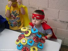 super hero cupcake party | Superheroes Vs. The Birthday Basher: Superhero Training Camp