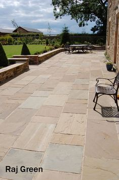 Raj Green Patio Paving Slabs. Natural Indian Sandstone in Mixed Sizes | eBay