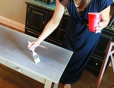 How to Decoupage Furniture with Modge Podge {Tutorial} - Refunk My Junk