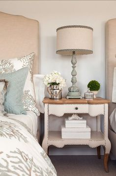 Bedroom Decor. Beautiful coastal bedroom decor ideas. #BedroomDecor #CoaslBedroom #Bedroom