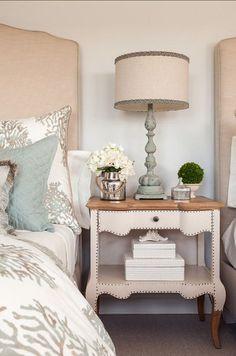 Bedroom Decor. Beautiful coastal bedroom decor ideas. #BedroomDecor #CoaslBedroom #Bedroom