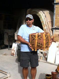 Fine Arts at SPC - Stan Warner shows off his work in the ceramics kiln yard
