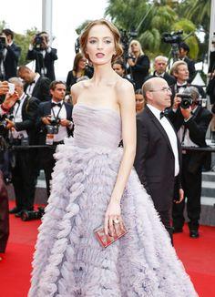 Daria Strokous en robe Luisa Beccaria   Cannes Film Festival Day 7