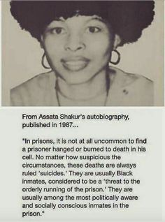 Assata Shakur on prison suicides