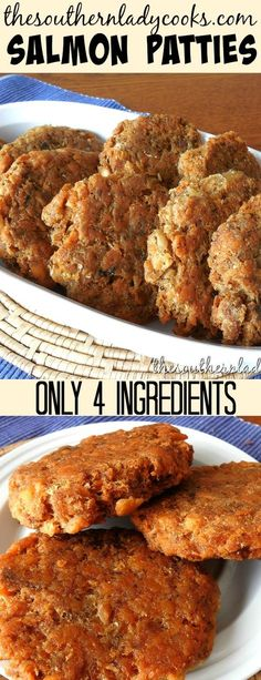Salmon patties recipe is only 4 ingredients and made the way my mother made them. Old-fashioned patties my family loves and one of our most popular recipes on the site. #salmon #patties #recipes #comfortfood #oldfashioned #delicious #4ingredients