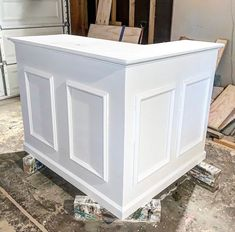 This is Scott - Gorgeous L shaped reception desk. Cash wrap Long in the front Long to the left High deep 3 shelves Shabby chic rustic finish All white! Shipping not included. Lobby Design, Reception Desk, Lobby Interior Design, Cash Wrap, Church Lobby Design, Cash Wrap Counter, Salon Interior, Salon Suites Decor, Lighting Design Interior