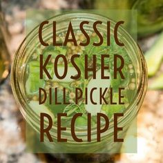 How to prepare The Ultimate Kosher Dill Pickle through the canning process or the simple refrigerator process. Make authentic Kosher Dill Pickles right at home with this easy recipe and cucumbers right from your garden or the farmer's market. Canning Dill Pickles, Kosher Dill Pickles, Pickles Recipe, Easy Dill Pickle Recipe, Butter Pickles, Pickling Crock, Canning Process, How To Make Pickles, Cucumber Recipes