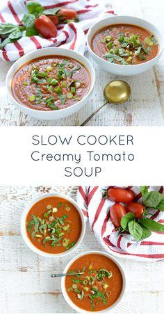 Crockpot Creamy Tomato Soup (paleo, whole30, dairy-free) | Real Food Whole Life