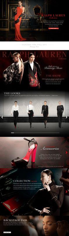 Fashion layout.  Web Design  Ralph Lauren