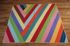 Stripey modern quilt.