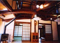 日本家屋、古民家、暖炉、障子