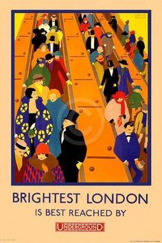 """Brightest London is best reached by Underground"""