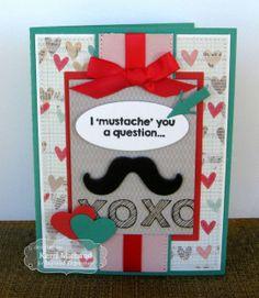 January SOTM Mustache Valentine Card  by Kerri Michaud #Cardmaking, #ValentinesLove, #StampoftheMonth, http://tayloredexpressions.com/kits.html