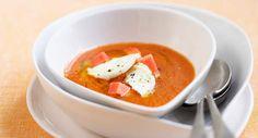 Soupe froide tomate et pastèqueVoir la recette de la Soupe froide tomate et pastèque >>