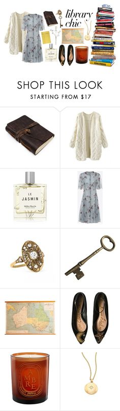 """Library Chic"" by lacrosserocksrosse ❤ liked on Polyvore featuring Miller Harris, Valentino, Sam Edelman, Diptyque and Astley Clarke"