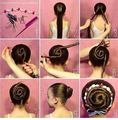 Cinnamon Ballet Bun This is how I do my hair for ballet 5 times every week.                                                                                                                                                      More