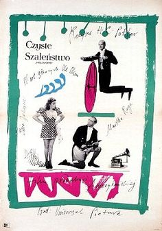 """Polish Movie Posters are truly amazing! This one is for """"Hellzapoppin"""" translated in polish as """"Pure Madness"""" (Czyste Szaleństwo). ✨☺️👄📷💃 Starring: Ole Olsen, Chic Johnson, Martha Raye / Directed by: H. Polish Movie Posters, Film Posters, Laurent Durieux, Pretty Drawings, Art Icon, Book Layout, Illustrations And Posters, Art Auction, Cover Design"""