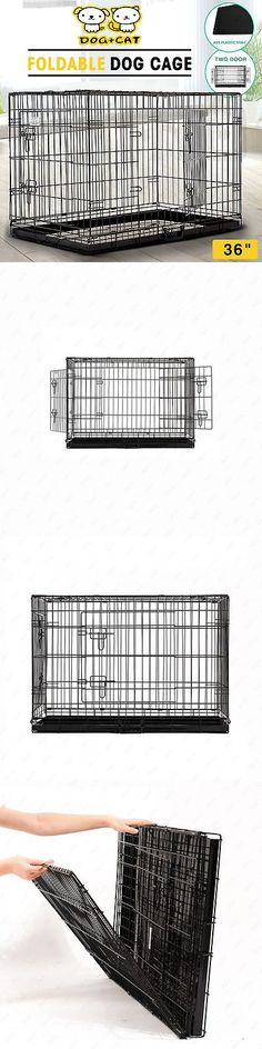 Cages and Crates 121851: 36Dog Pet Cage Portable Collapsible Metal Crate Kennel House Playpen W/Abs Tray BUY IT NOW ONLY: $131.9
