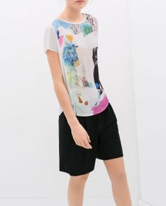 Image 1 of GIRL'S PRINTED T-SHIRT from Zara