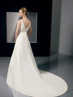 empire waist wedding gown