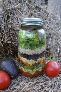 Southwestern Barbecue Grilled Veggie Mason Jar Salad