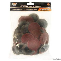 "50Pc 1/"" Roloc Type R Surface Polishing Conditioning Disc Threaded Twist Lock New"