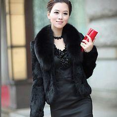 hansifei elegante novo inverno vendendo casaco de pele falso – BRL R$ 113,33