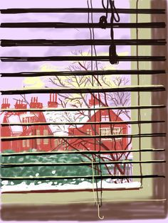 David Hockney Has Made Beautiful (and Rarely Seen) iPad Drawings of the View From His Bedroom Window. Enjoy Them Here David Hockney Ipad, David Hockney Art, David Hockney Paintings, Iphone Drawing, Pop Art Movement, Tech Art, Window Art, Window View, Ipad Art