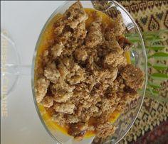 Pannacotta de potimarron et crumble aux noix