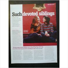 Bananarama. - Shakespears Sister. Devoted Siblings 1 page feature Celebs Mag