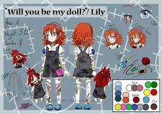 Creepypasta OC- Lily Reference Sheet by on DeviantArt Lulu Creepypasta, Creepypasta Proxy, Creepypasta Characters, Creepy Art, Scary, Creepy Stuff, Erma Comic, Arte Emo, Character Art