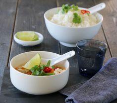 Kyllingsuppe med kokosmelk og chili 1 hour
