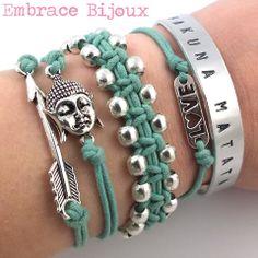 Armcandy by Embrace Bijoux! www.embracebijoux.nl #mint #armcandy #buddha #arrow #love #bracelet #armparty #sieraden #jewellery